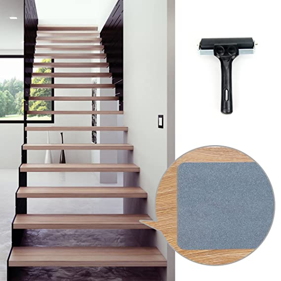 Anti Slip Stair Treads, 33 Feet PVC Free Gray Adhesive Stair Tapes And Tape