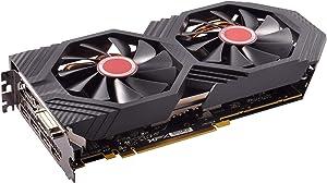 XFX Radeon RX 580 GTS XXX Edition 1386MHz OC+, 8GB GDDR5, VR Ready, Dual BIOS, 3xDP HDMI DVI, AMD Graphics Card (RX-580P8DFD6) (Renewed)