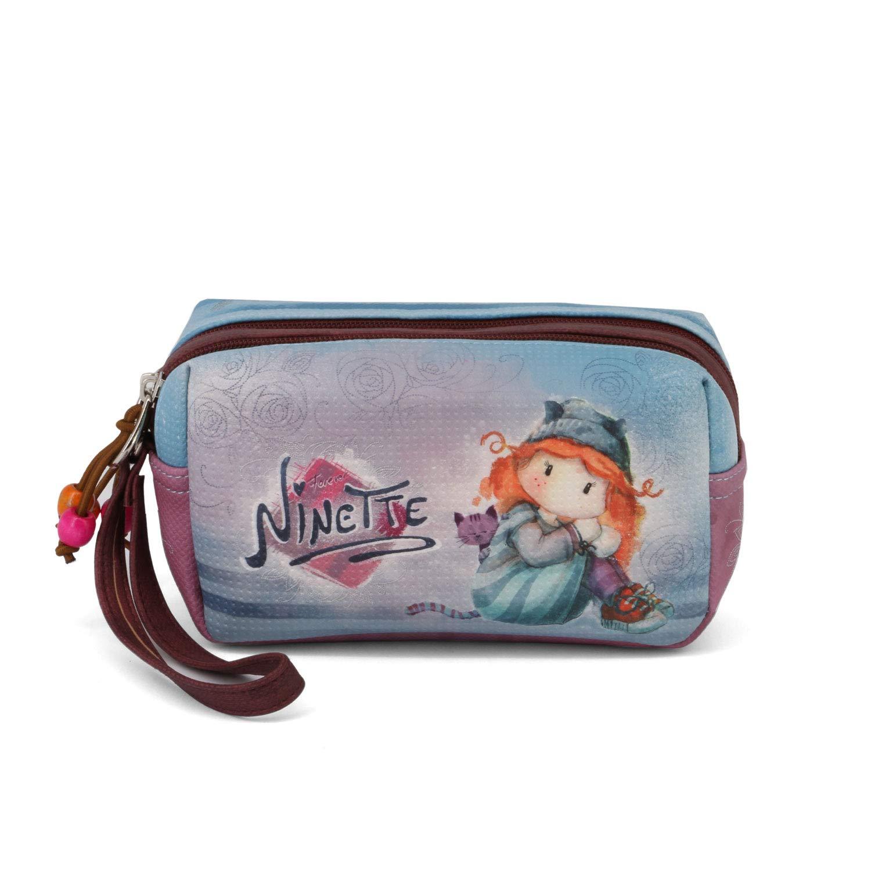 18 cm Blu Forever Ninette Ninette Origin-bolsa De Aseo Box Beauty Case Azul
