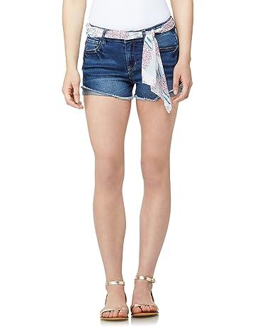 ca4212dc61 WallFlower Women's Juniors High-Rise Denim Shorts