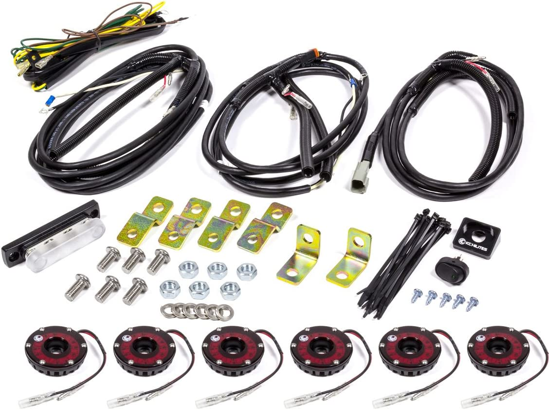 KC HiLiTES Clear 91025 Cyclone LED Rock Kit 6-Light System for Jeep on cyclone air cleaner, cyclone engine diagram, cyclone parts diagram,