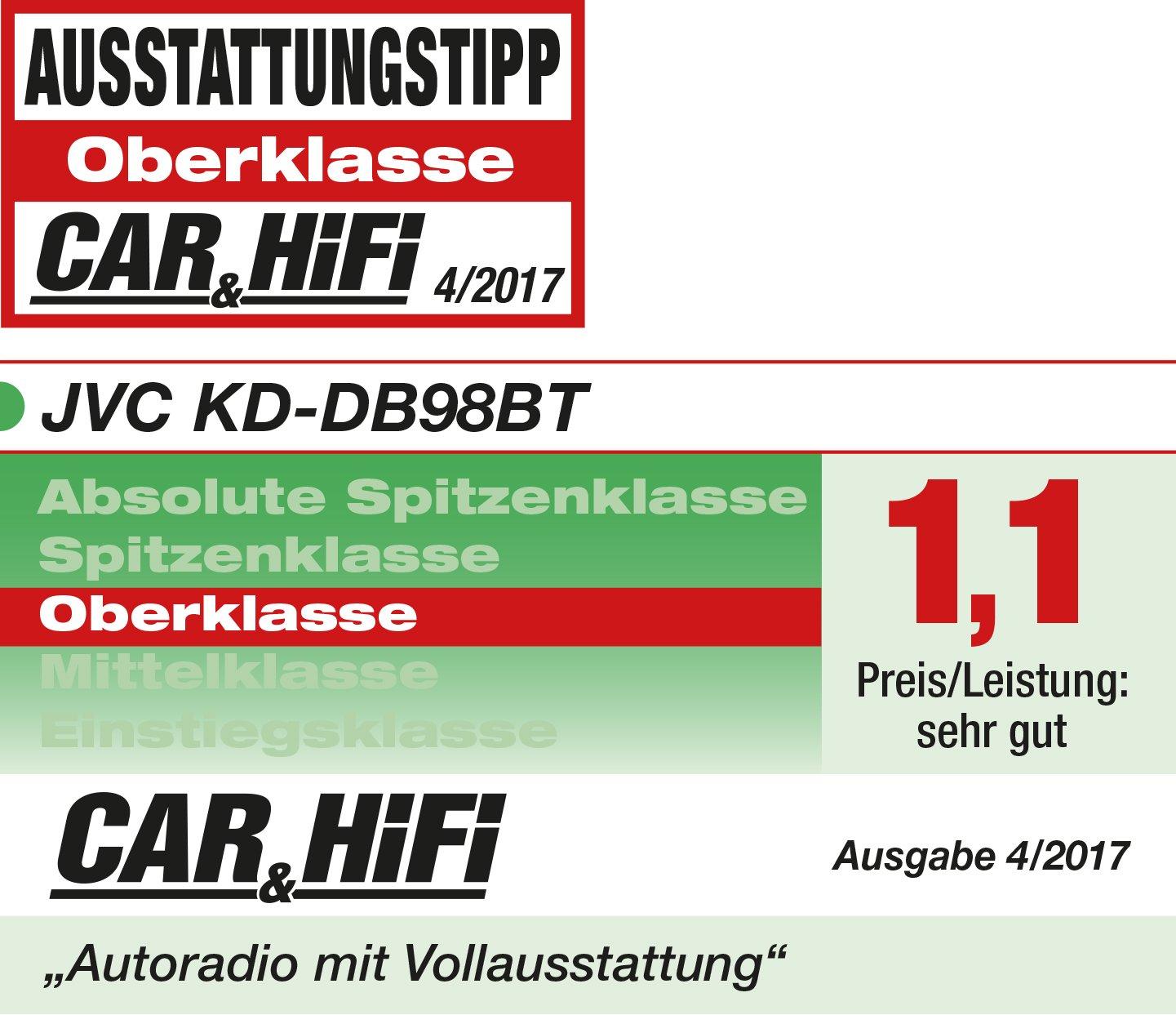 JVC KD-DB98BT CD-Receiver mit Digitalradio DAB+ schwarz