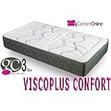 Colchón Viscoelástica VISCOPLUS CONFORT con 4cm de Viscoelástica CARBONO de máxima calidad. (150 x
