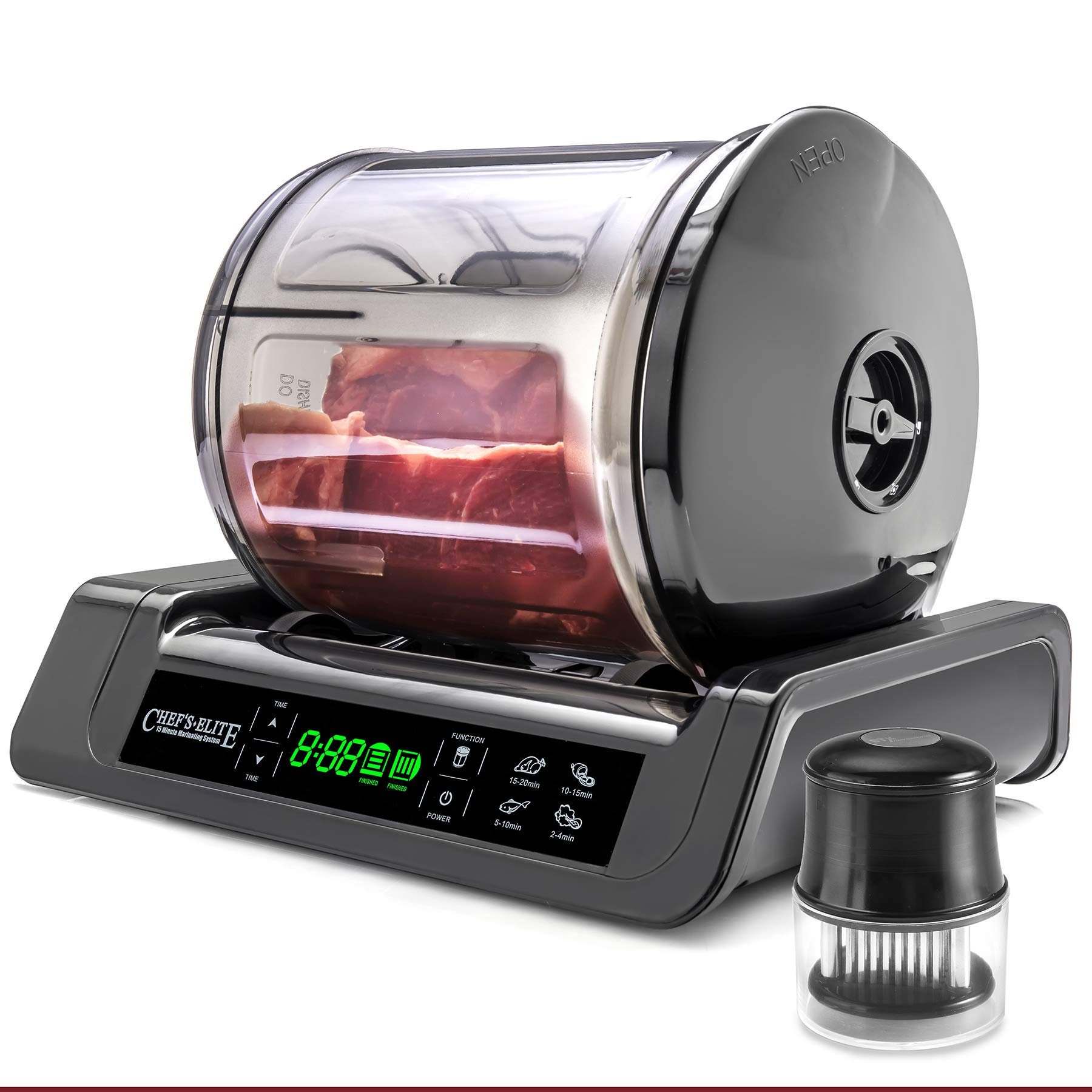 STX International STX-1000-CE Chef's Elite 15 Minute Meat & Vegetable Vacuum Marinator with Auto Shut Off and Free Meat Tenderizer by STX INTERNATIONAL