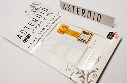 Asteroid Hybrid SIM Slot Adapter  Avails You to Run 2 SIM and Micro SD  Card, All at A Time [Nano to Nano] Sim Slot for All Hybrid Sim Phone