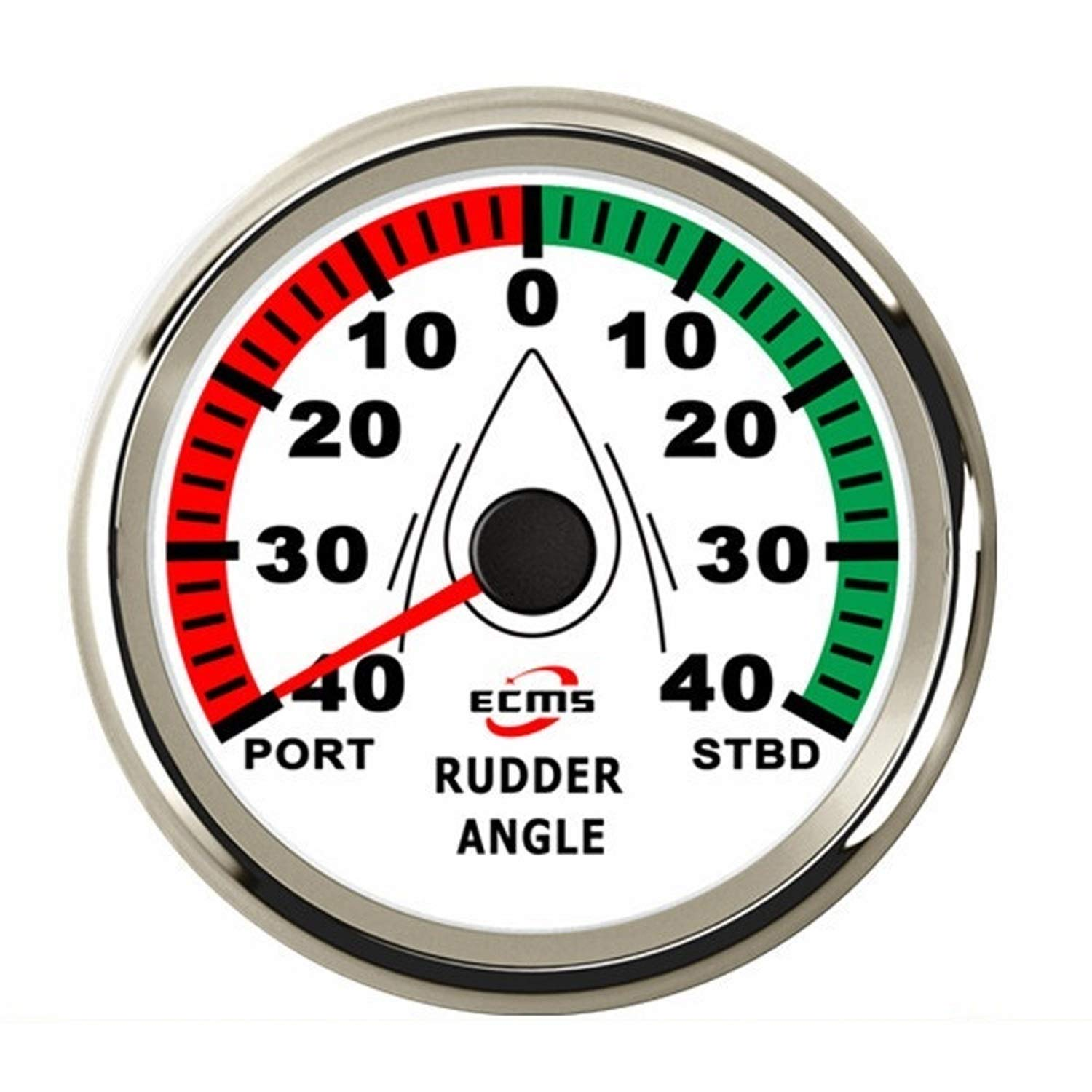 Low Power Consumption Guaranteed Rudder Angle Gauge Indicator 0-190ohm with Matching Sensor with Backlight 85mm 3-3/8 Inches 12V/24V, Waterproof, Lightning-Proof by JUNJIAGAO-gauge