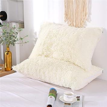 Amazon.com: MooWoo - 2 fundas de almohada de piel sintética ...