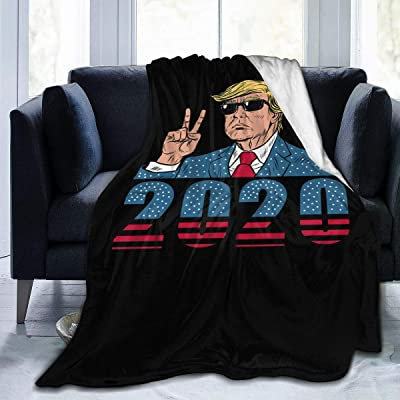 "Donald Trump Blanket Flannel Fleece Throw Lightweight Cozy Couch Bed Soft and Warm Plush Quilt for Thanksgiving, Halloween, 50""x40"" for Kids: Home & Kitchen"