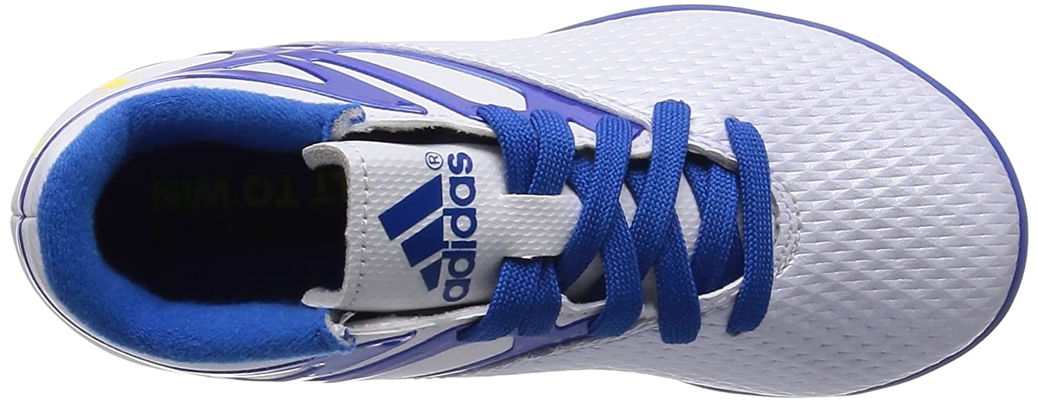 US4.5 adidas Messi 15.3 TF Junior Soccer Boot White//Blue//Black