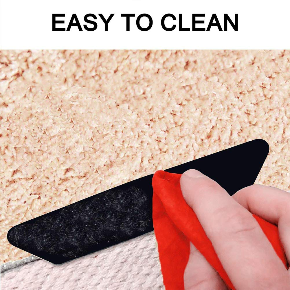 LIDIWEE 12pcs Carpet Tape Rug Gripper Anti Curling Rug Gripper Keep Rug In Place /& Keep Corners Flat Suitable for All Kinds of Mats