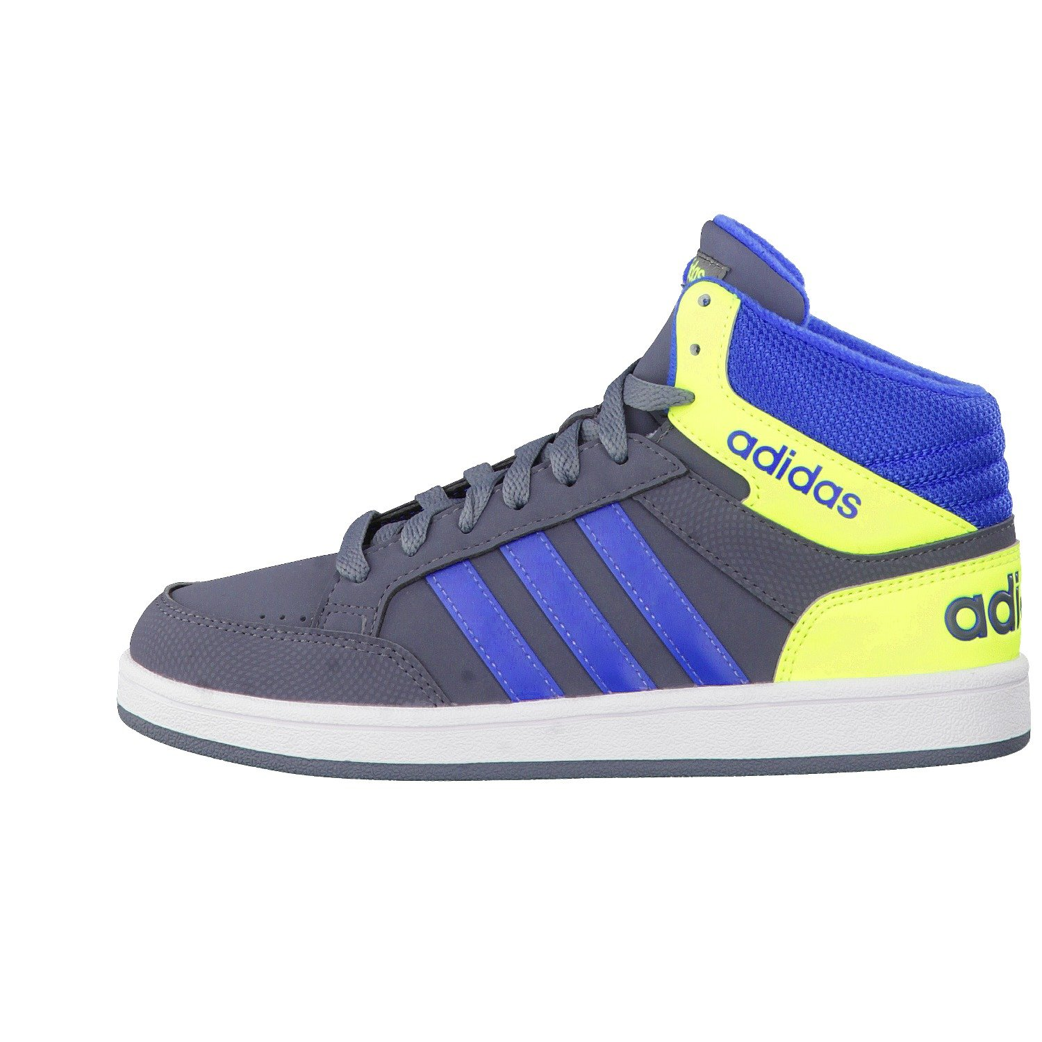official photos 152bb 2ebd3 ... hot adidas kinder high top sneaker freizeitschuhe schuhe hoops light mid  k grau blau amazon.