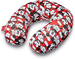 American Tourister Disney Mickey Travel Pillow, Red, One Size