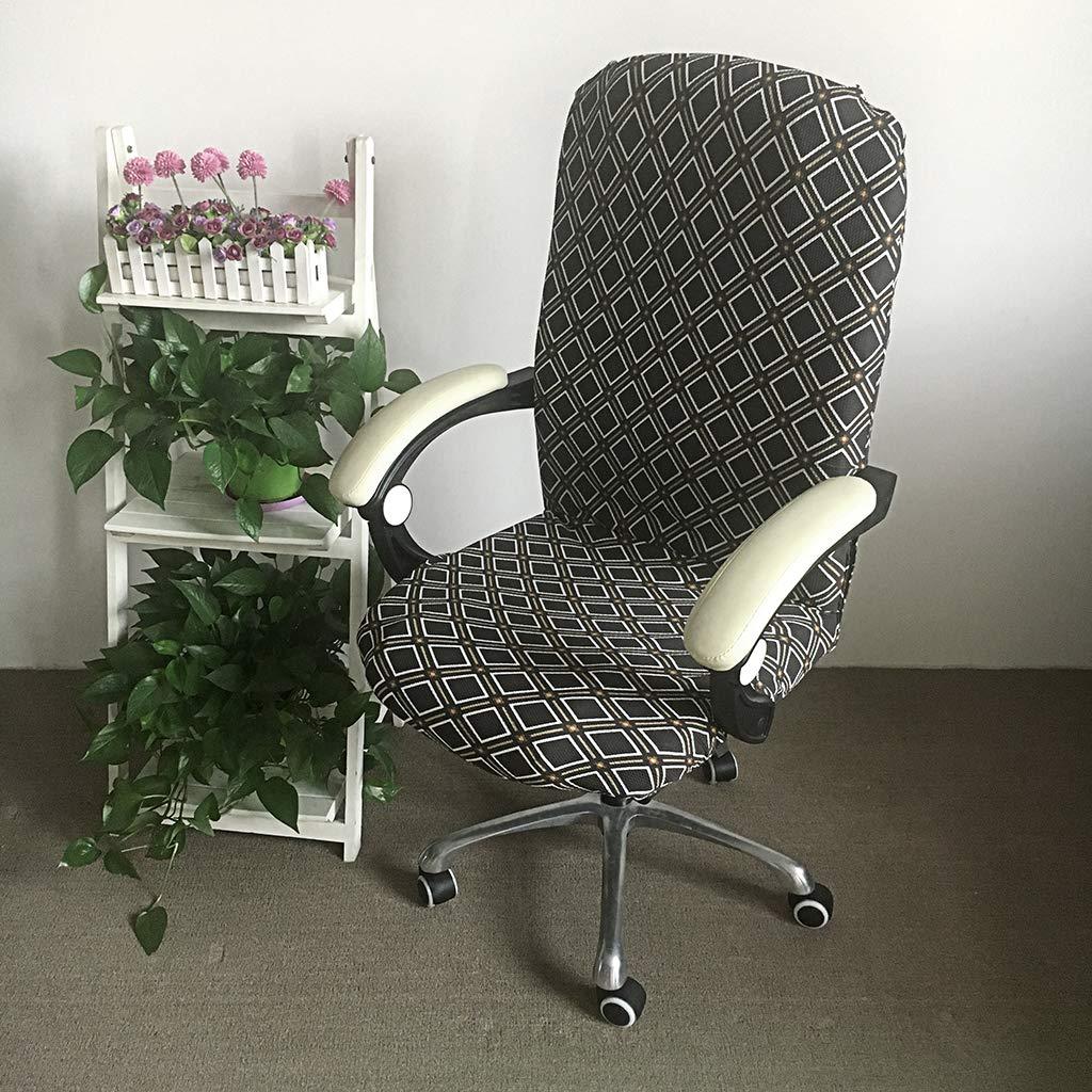 Senza sedie coprisedia in Stile Moderno e Semplice Elasticizzato Rimovibile per Sedia Girevole da Ufficio BSTKEY Cirrus Grey