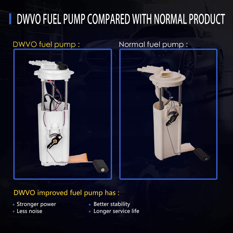 Oldsmobile Bravada 4.3L V6 DWVO Fuel Pump for 1998-2005 Chevy Blazer GMC Jimmy Come with Fuel Pressure Sensor