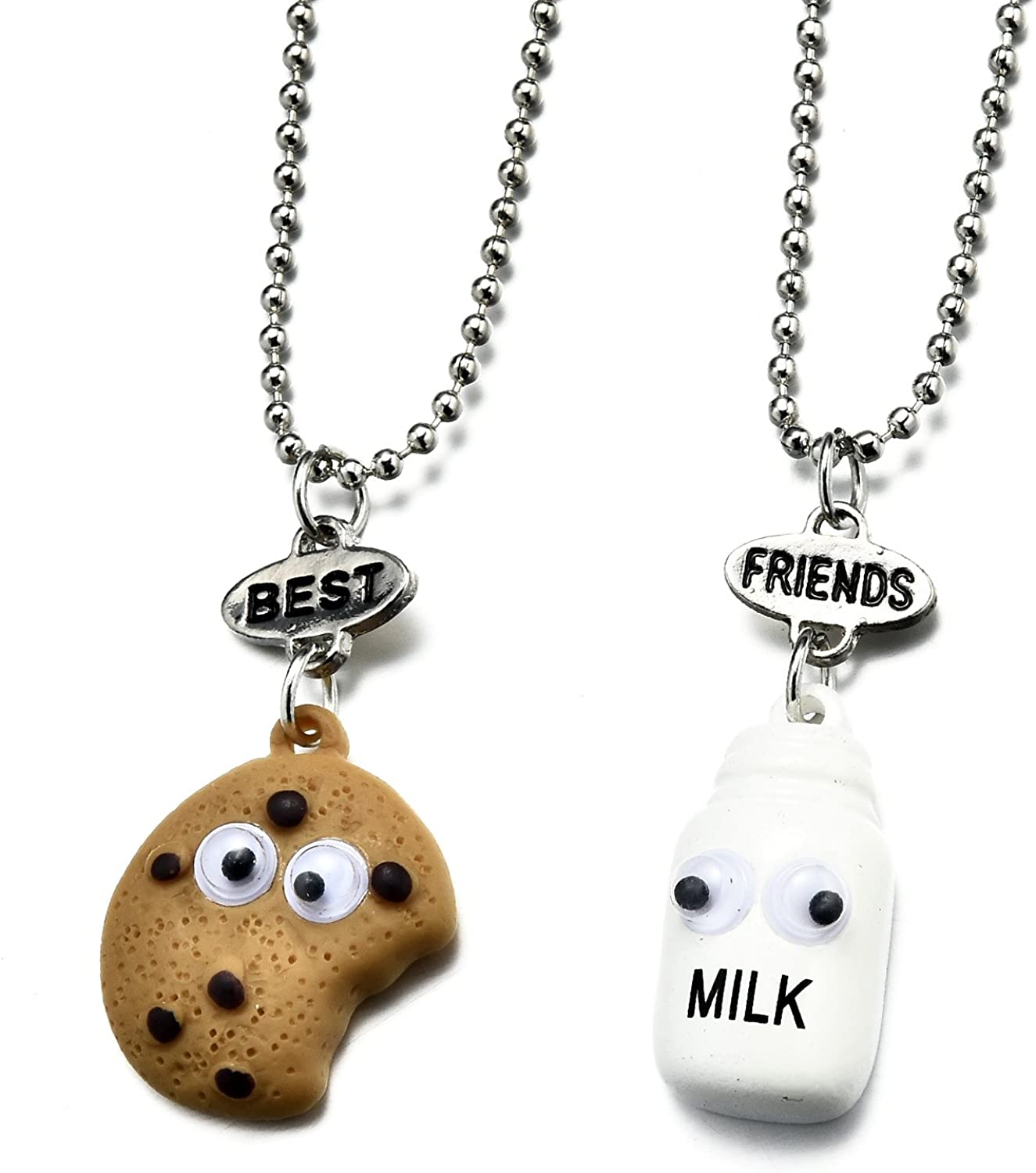 2/3/4 Packs BFF Best Friends Forever Tags Kids Pendant Necklace Set