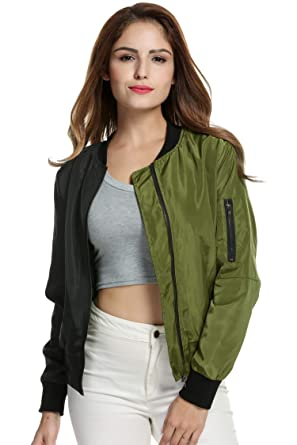 a03eade5f9ef9 Image Unavailable. Image not available for. Color  lantusi Bomber Jacket  Women Plus Size ...