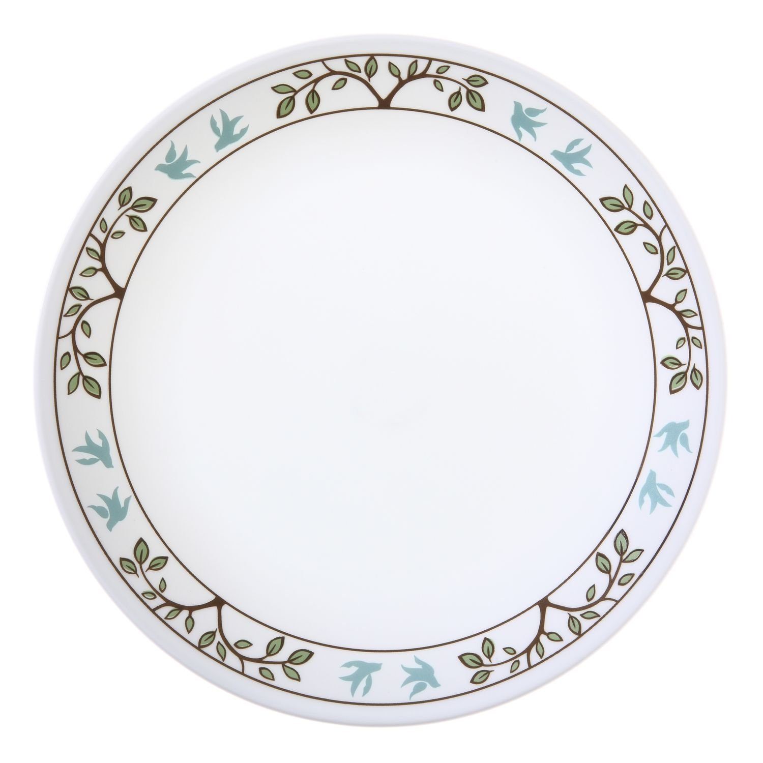 Corelle Livingware - Set of 8 Tree Bird Dinner Plates. Each Plate is 8.25 Inches in Diameter by .75 Inches Thick.
