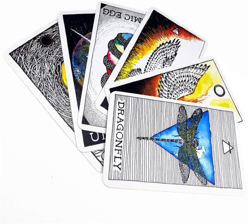 Youlin Giochi di societ/à Animal Spirit Tarot 63 Deck Carte Anglais Oracle Card Game Festa di Famiglia