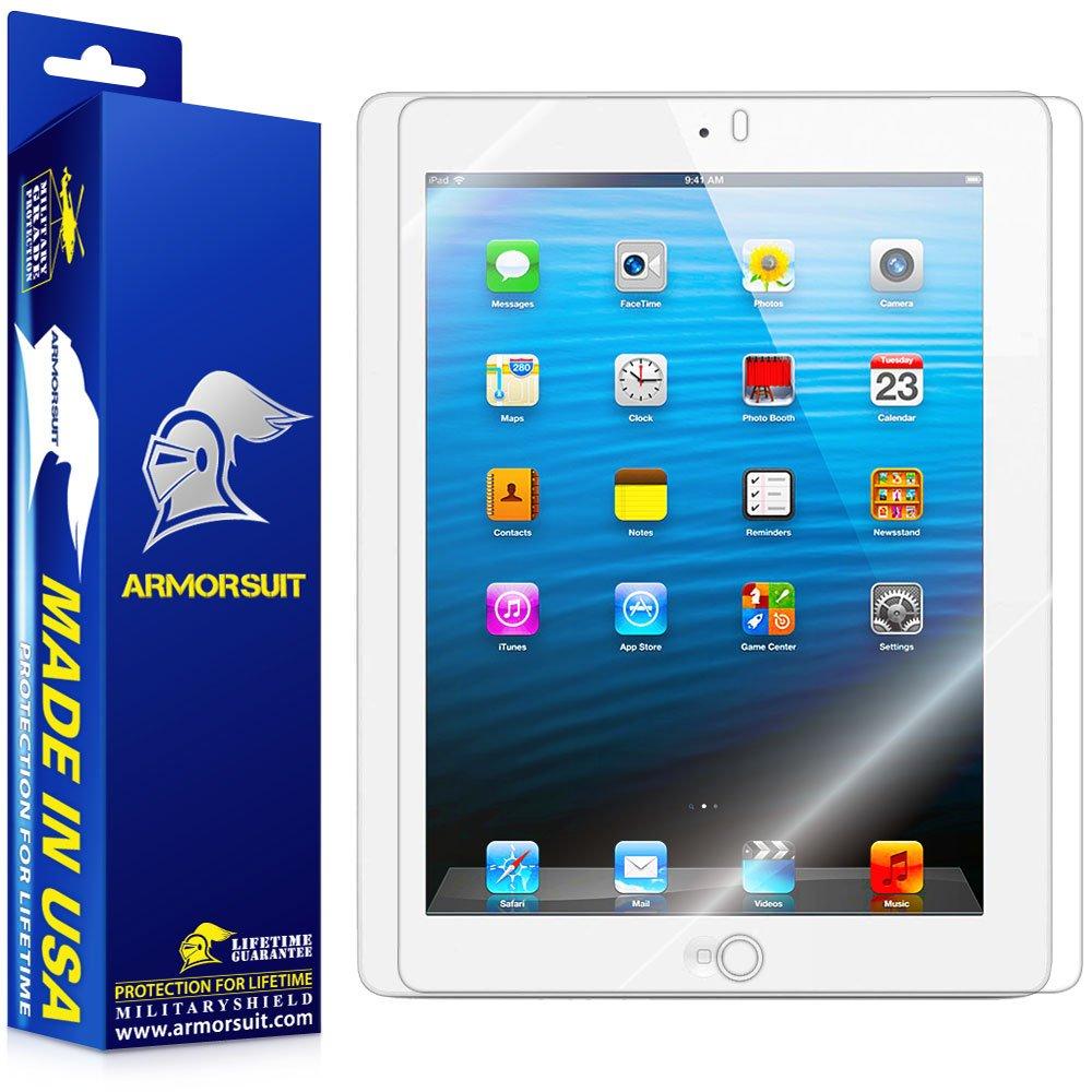 Amazon.com: ArmorSuit MilitaryShield - Apple iPad 4 with Retina Display / iPad  3 / iPad 2 Screen Protector Shield + Lifetime Replacements: Computers & ...