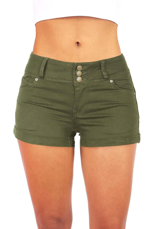 Wax Women's Juniors Casual Push up Fit Shorts