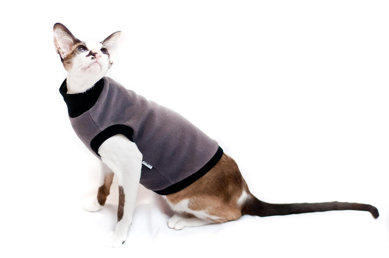 Kotomoda vêtements pour chat col roulé Taup polaire (L)
