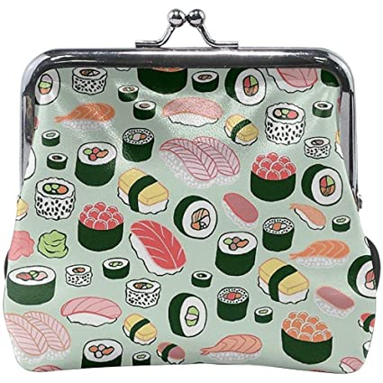 Sushi Forever Exquisite Buckle Leather Monedero pequeño ...