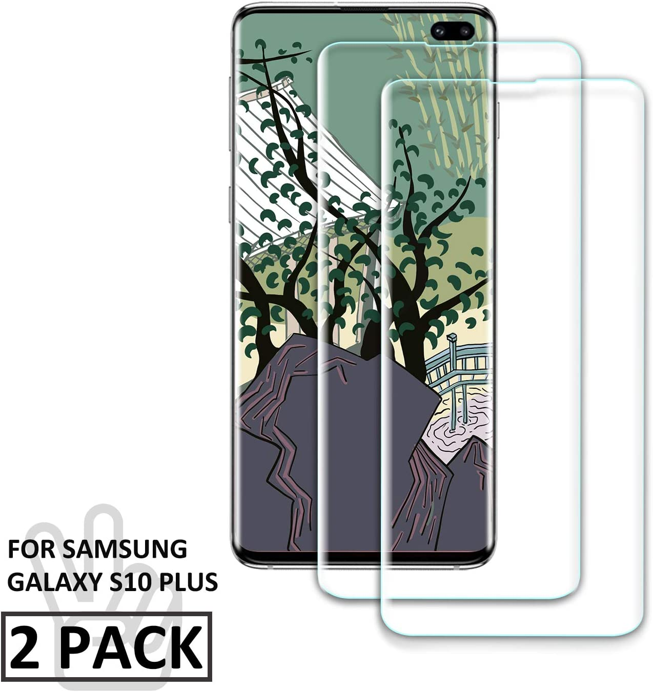 Premium Tempered Glass Screen Protector film for Samsung Galaxy S20 Plus 2 Pack Anti Shatter 9H Hardness Roclot Galaxy S20 Plus Screen Protector, Compatible with fingerprint sensor Bubble Free