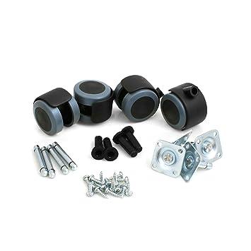 Design61 universal Ruedas goma para mueble (Ruedecillas ruedas ruedas para suelo con tubo y vaina lápiz 4 unidades): Amazon.es: Hogar