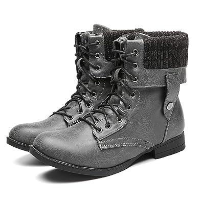 b102393643b1cd Gracosy Bottes de Neige Femmes Filles, Chaussures Ville Hiver en Cuir  Synthétique avec Doublure Chaude