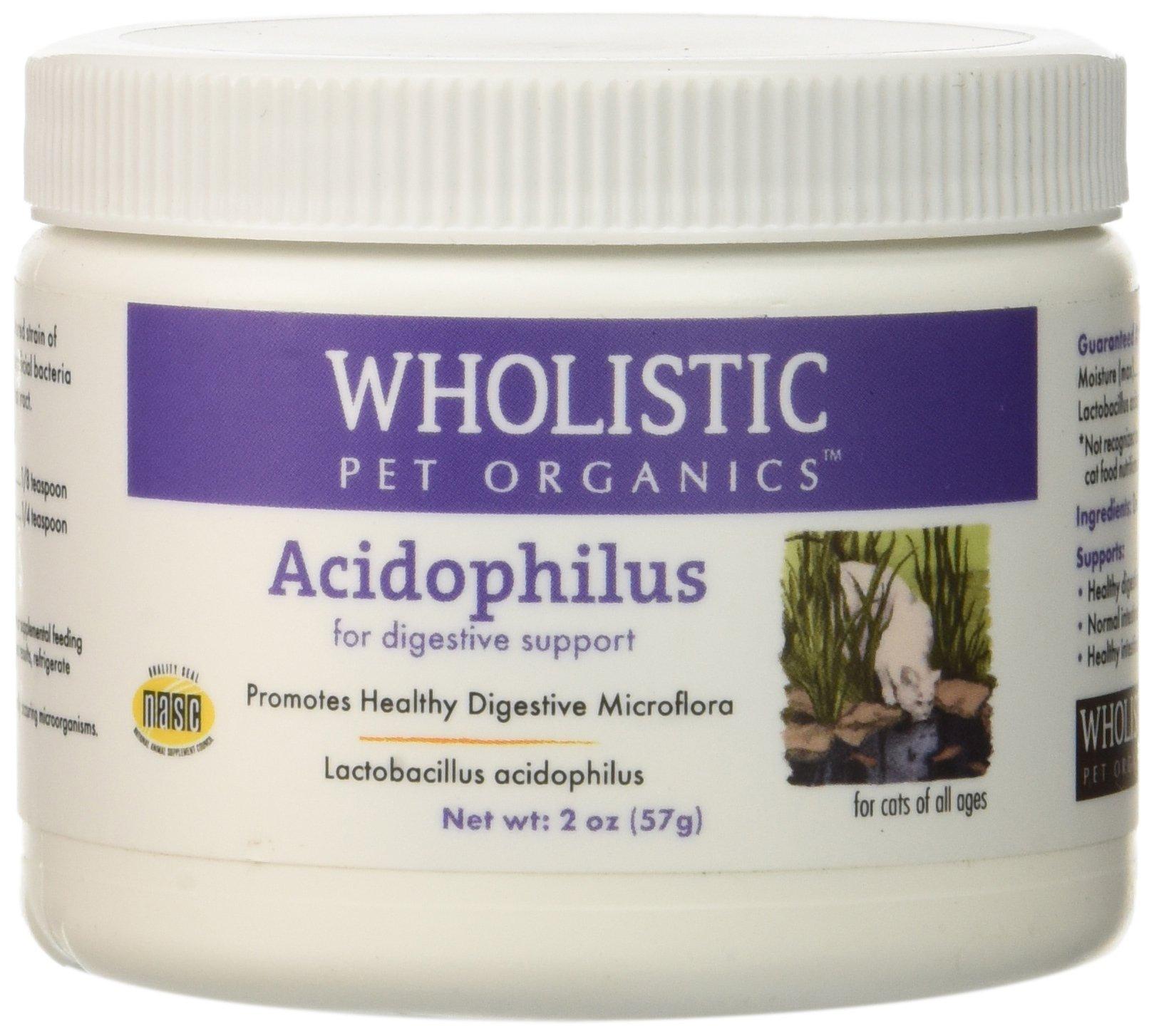 Wholistic Pet Organics Feline Acidophilus Supplement, 2 oz by Wholistic Pet Organics