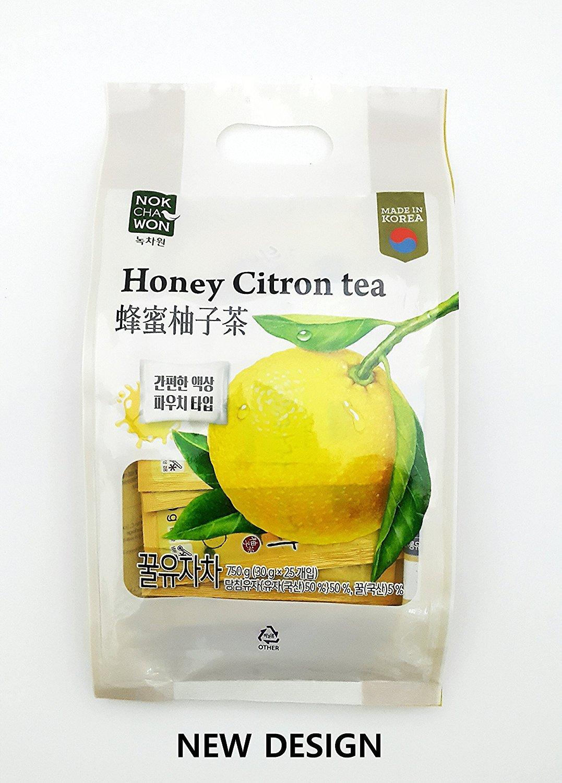 (Tea Collection) Yuzu Oriental Korea Honey Citron Tea 25 Pouches(1.06oz*25P) by Nokchawon