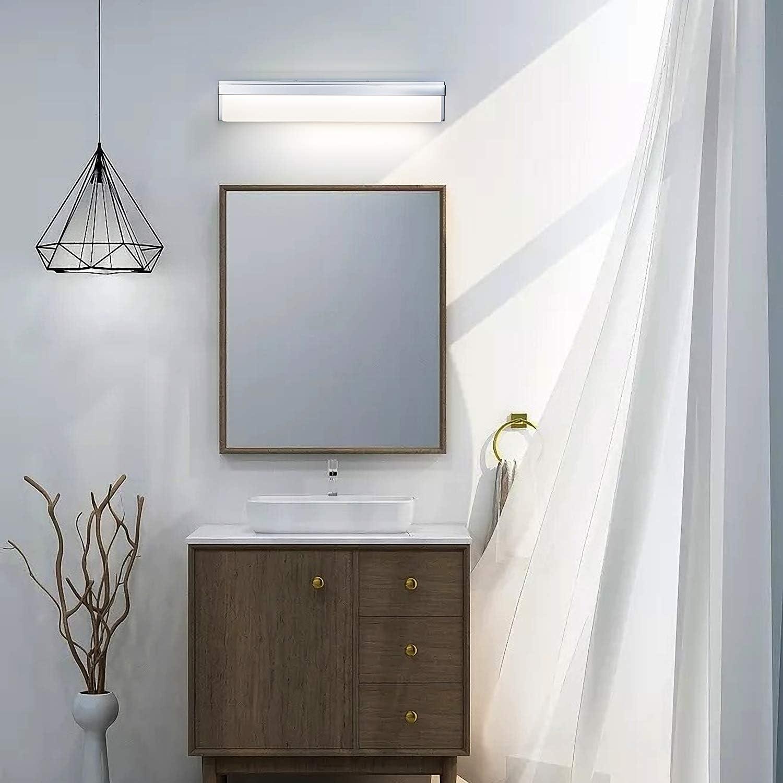 LIGHTINN LED Bathroom Vanity Light Fixture Over Mirror 24.4 inch Modern Rectangle Black Matte Metal Lighting Bar 4000K Daylight Wall Sconce Black