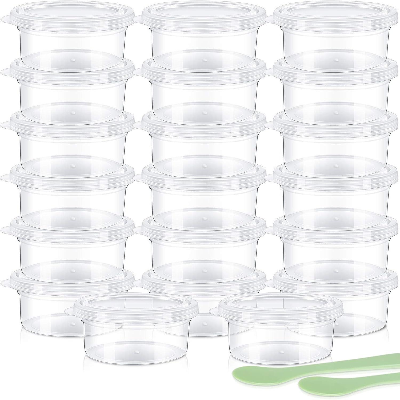 LEOBRO Brodi Slime Storage Containers, 20 Pack Foam Ball Storage Containers with Lids for 20g Slime