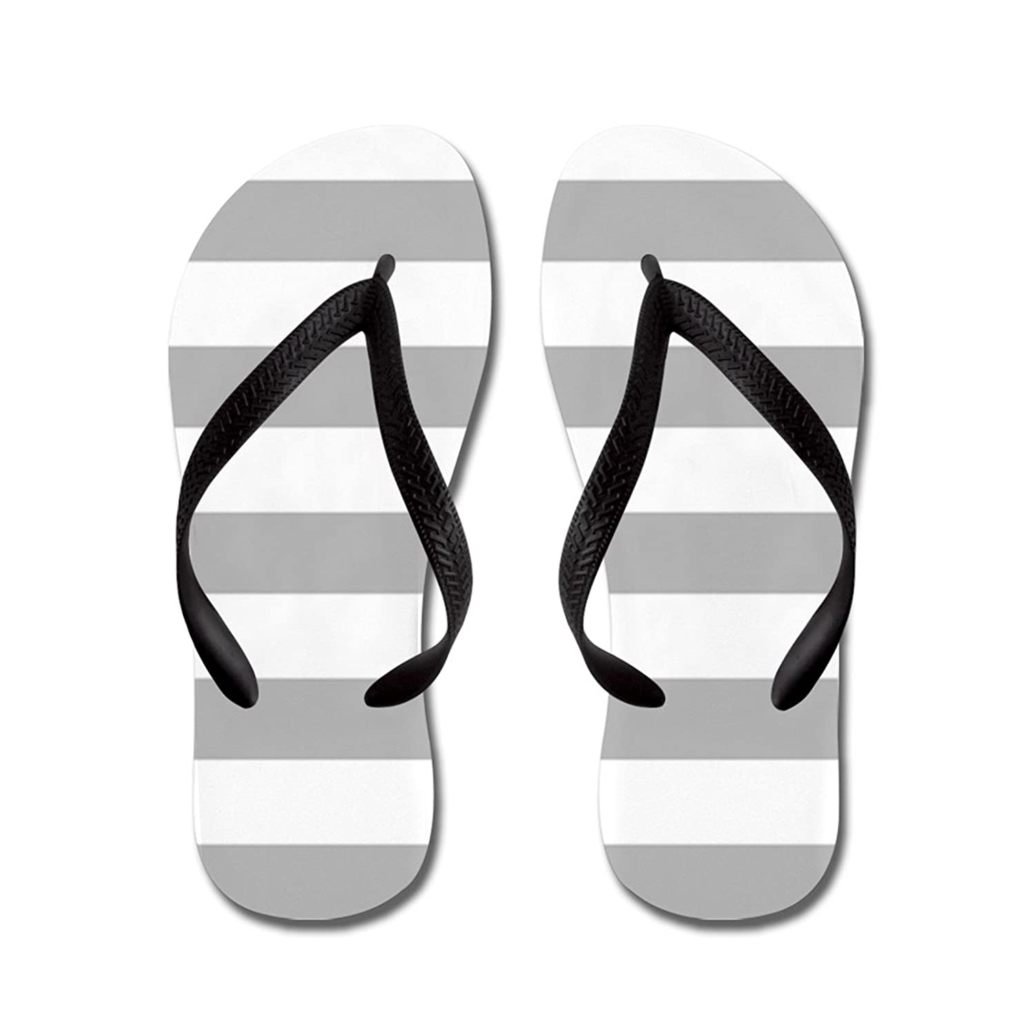 Lplpol Stripes Gray Flip Flops for Kids and Adult Unisex Beach Sandals Pool Shoes Party Slippers