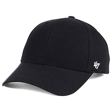 low cost 5c970 4f578 Amazon.com    47 Brand MVP Blank Hat - Black   Adjustable   Sports    Outdoors