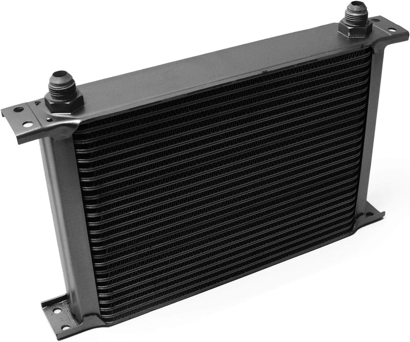 Wiltec Radiatore Nero dellolio Universale Alluminio 25 File Alette per Raffreddamento Olio Motore