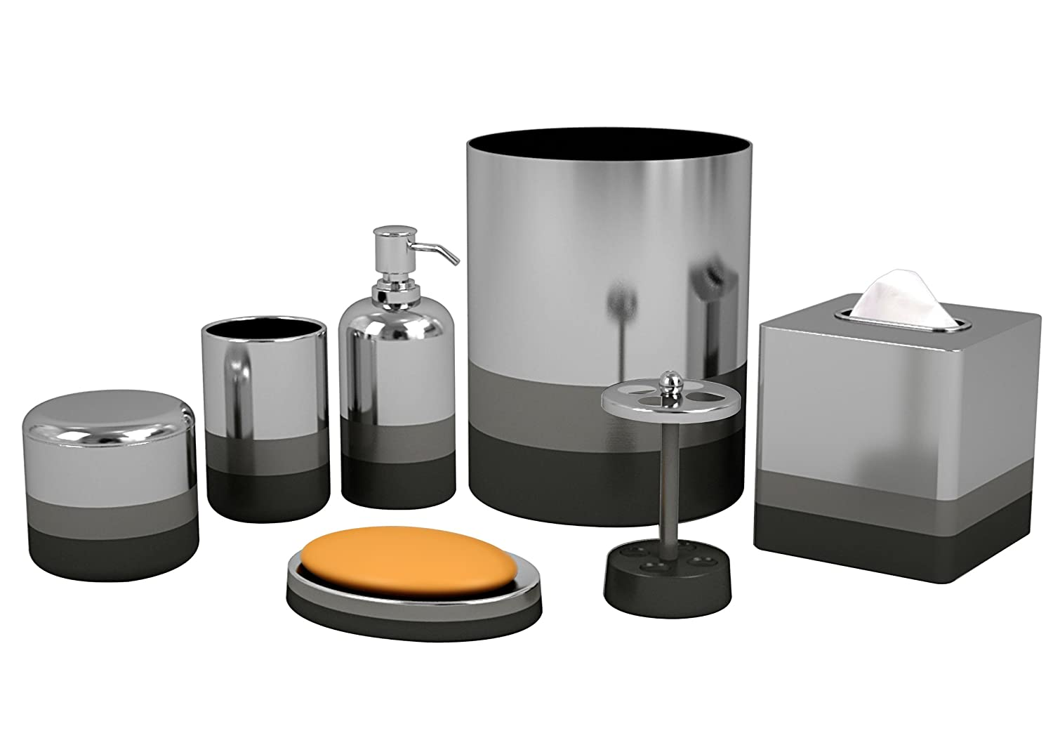Captivating Amazon.com: Nu Steel Triune Bathroom Accessories Set ,7 Piece: Home U0026  Kitchen