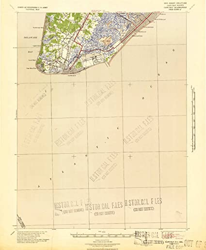 Amazon.com: YellowMaps Cape May NJ topo map, 1:62500 Scale, 15 X 15 on