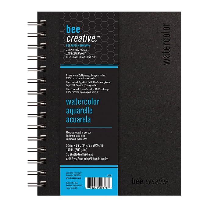 Amazon.com: Bee Paper Company Bee Paper Bee Creative watercolor Book ...