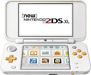 Nintendo 2DS XL Handheld Gaming System (White & Orange)
