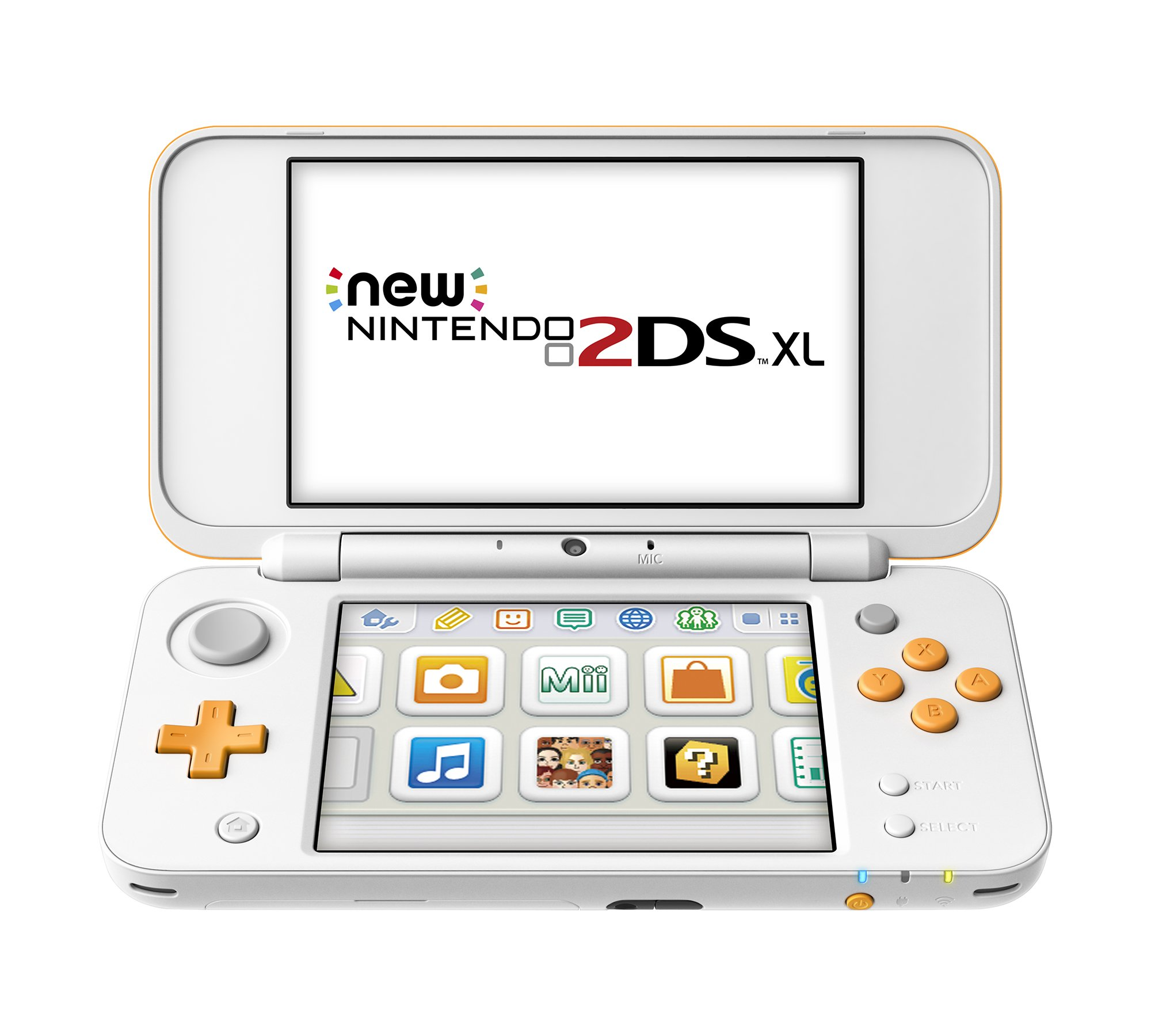 New Nintendo 2DS XL Handheld Game Console - Orange + White With Mario Kart 7 Pre-installed - Nintendo 2DS by Nintendo (Image #2)