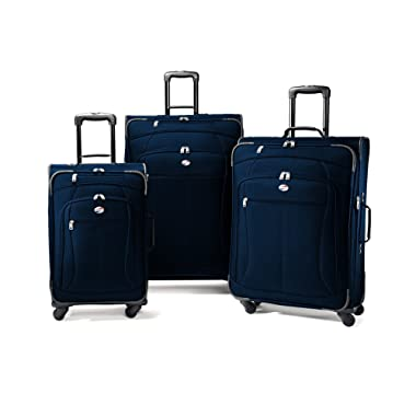 American Tourister At Pop Three-Piece Spinner Set, Navy, One Size