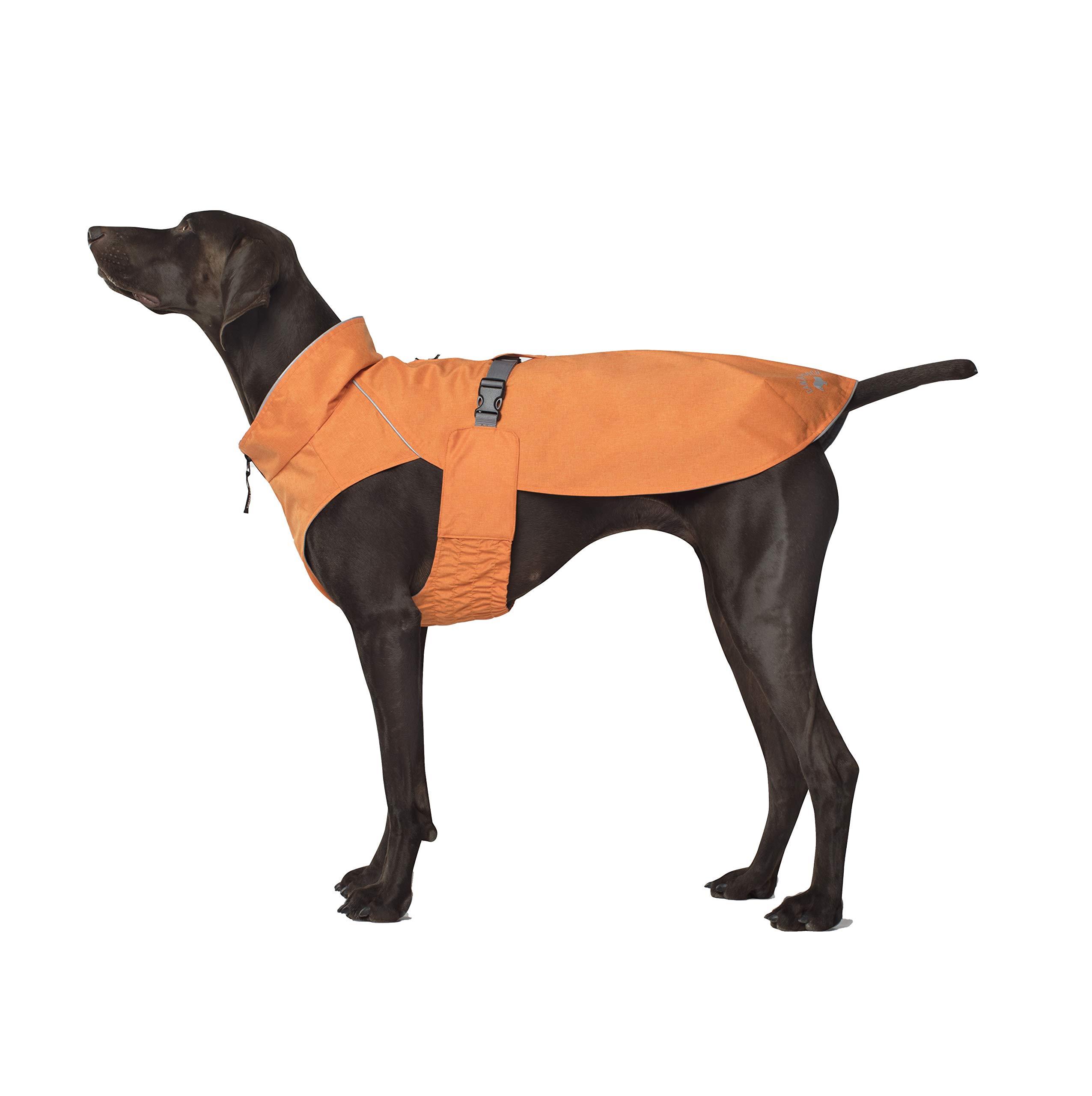 Canada Pooch The Expedition Raincoat, Orange, Size 28