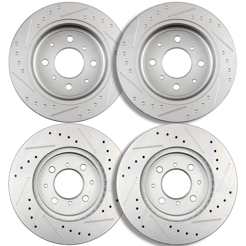ECCPP Front 262mm Rear 238.5mm Discs Brake Rotors Brake Kit for Acura Integra ,Honda Civic