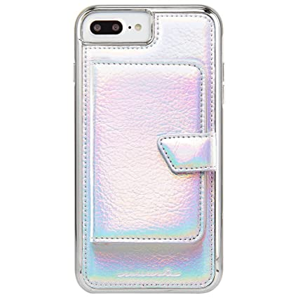Case-Mate iPhone 8 Plus Case - COMPACT MIRROR - Iridescent - Holds 4 Cards