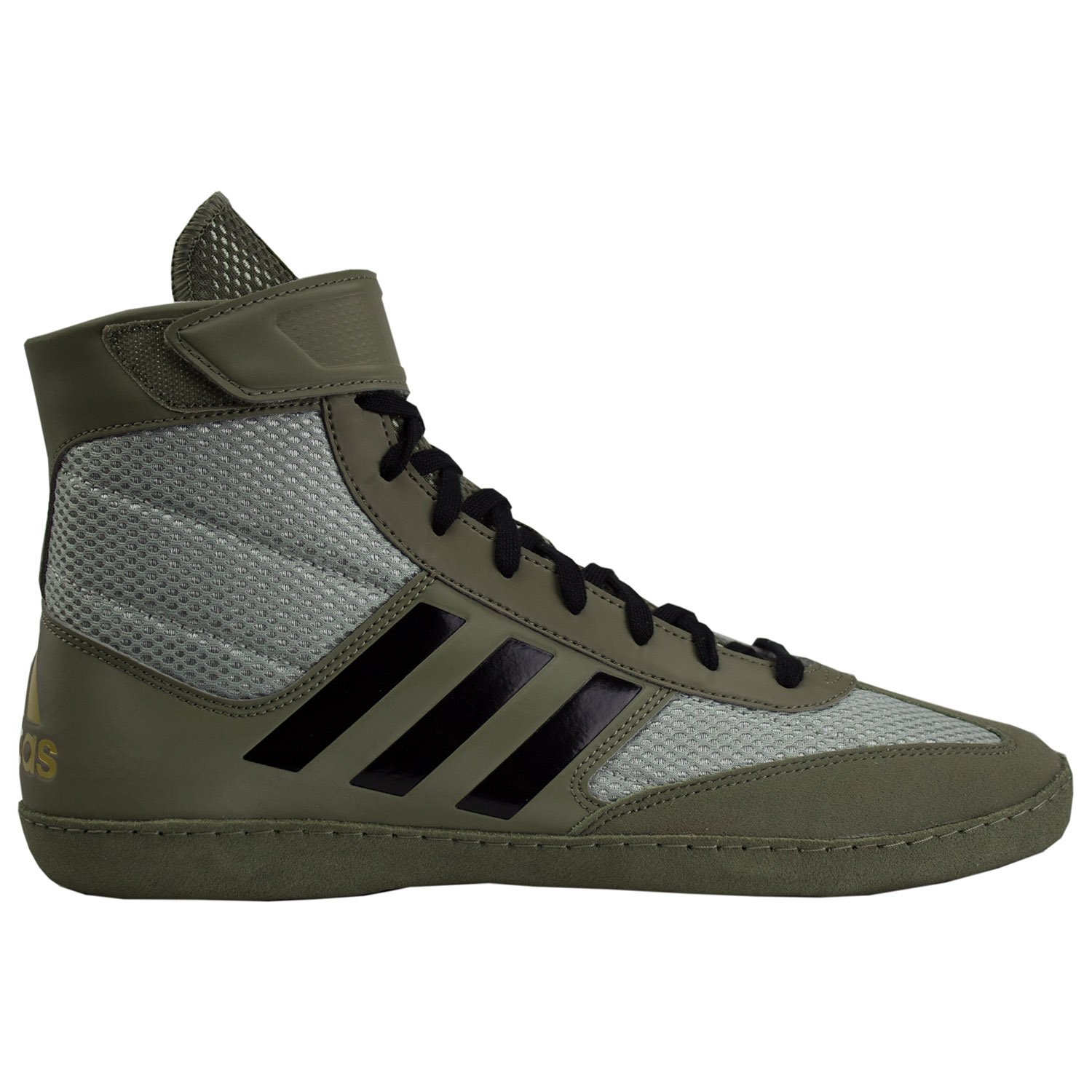 adidas Combat Speed 5 Men's Wrestling Shoes, Tan/Black/Silver, Size 10.5