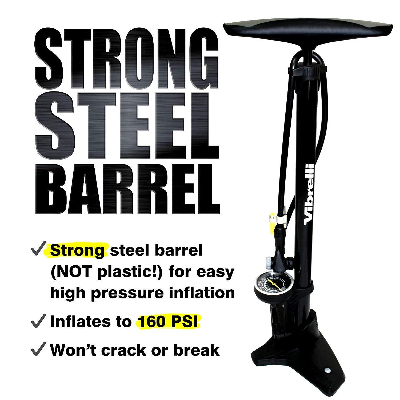 Vibrelli Floor Pump for Bicycle Exclusive Edition