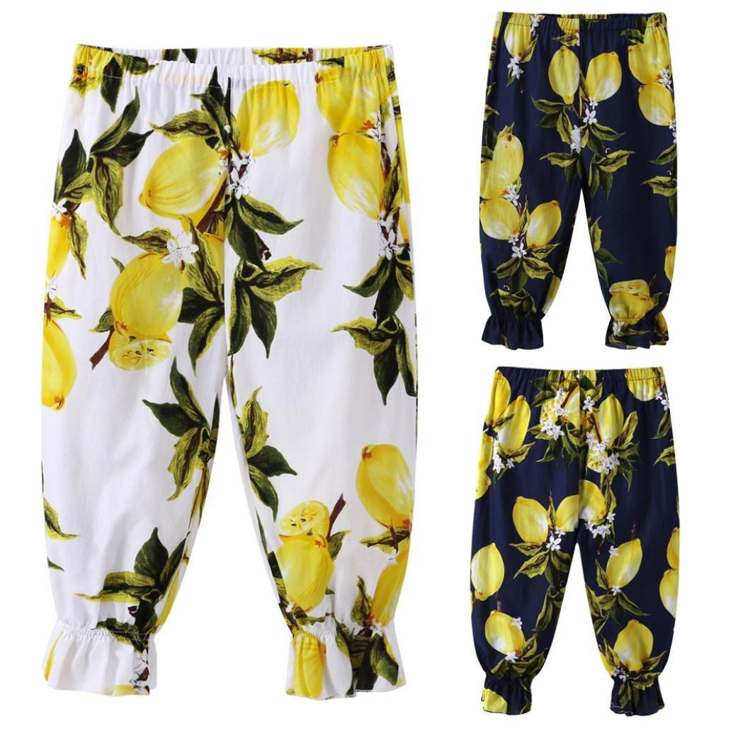 Sunbona Kids Baby Girls Print Loose Bottoms Pants Eelastic Harem Long Leggings Trousers