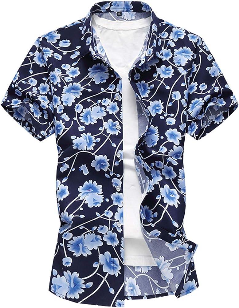 Camisa de Hombre, Estilo de Verano, Estampado de Palmeras, Playa, Hawaiana, Camiseta de Manga Corta y Hawaiana, tamaño Grande, 7XL. Hawaiana Hombre: Amazon.es: Ropa y accesorios
