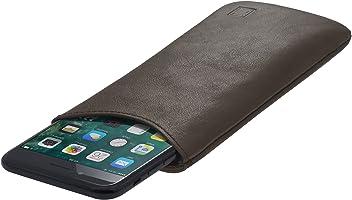StilGut Pouch Custodia Smartphone Sleeve in Morbida Pelle di Nappa Misura L, Moka Nappa | Compatibile tra Gli Altri con Samsung Galaxy S7, Samsung S6 Edge ECC.